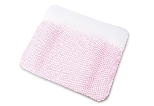 Bezug für Wickelauflagen 'Vichy-Karo', rosa