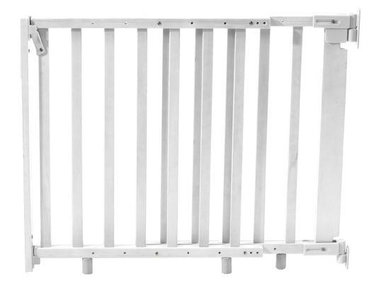 Treppenschutzgitter 77-118cm Holz, weiß