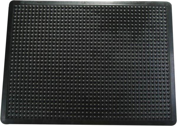 Anti-Ermüdungsmatte, 90 x 120 cm, schwarz, Blasenstruktur