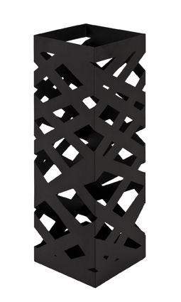 Schirmständer, schwarz, Stahl, 16x16x48cm