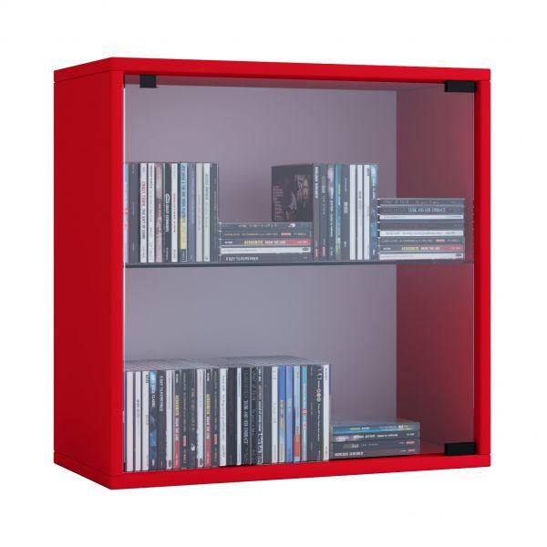 Cube Regal Quattro Mit Glastür Rot Vcm Möbel Günstiger Kaufen