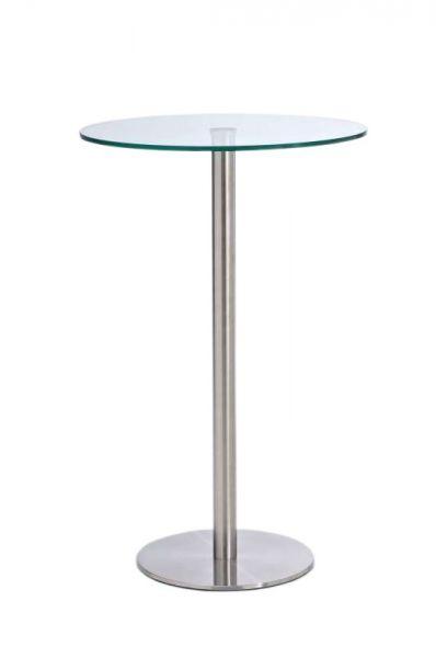 Glastisch Ben 110 Edelstahl, klarglas