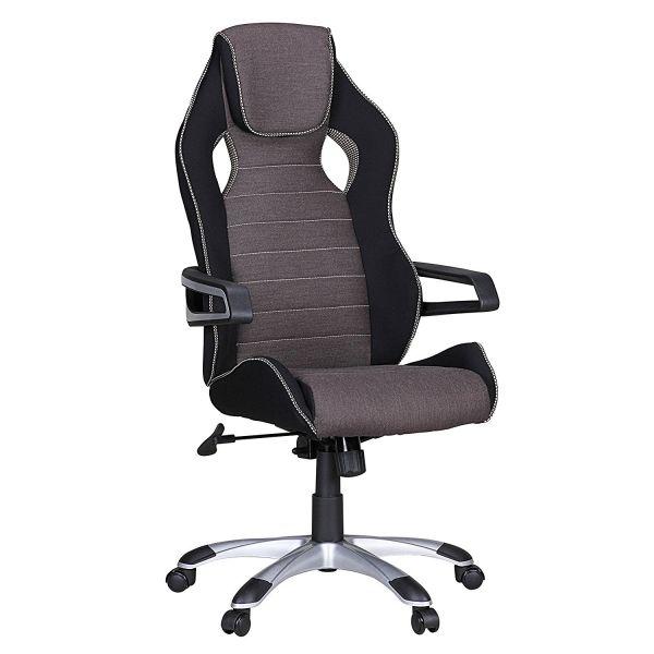 VALENTINO Bürostuhl, Schreibtisch, Chefsessel, Grau