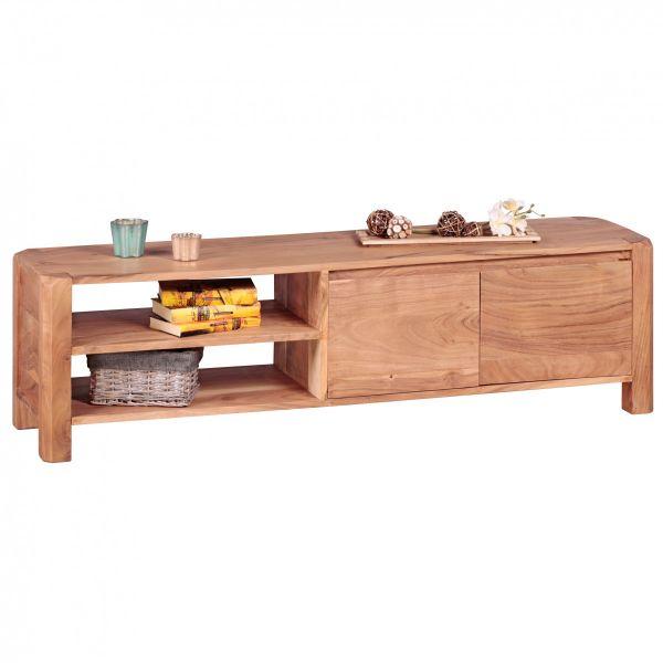 TV-Board, Lowboard, Massivholz, Akazie, 140 cm
