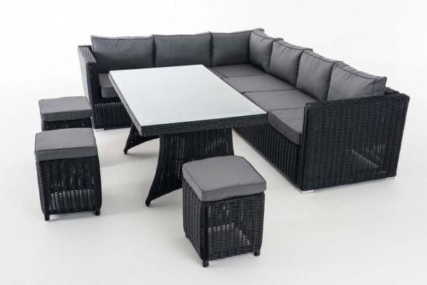 Sitzgruppe Sorano 5mm Eisengrau, schwarz
