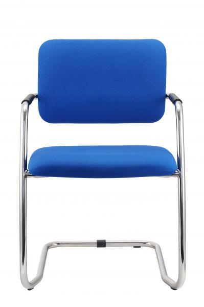 Besucherstuhl Freischwinger 2er Set, Blau