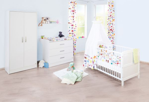 Kinderzimmer 'Viktoria' breit, weiß