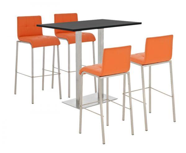 Bar Set Velosa, matt schwarz, orange