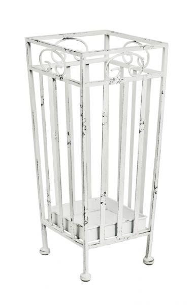 Schirmständer, antikweiß, Metall, 20x20x46cm