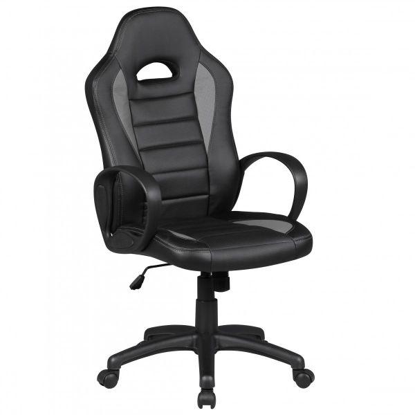 DAKAR Bürostuhl, Schreibtischstuhl, Chefsessel, Schwarz Grau