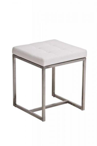 Sitzhocker Barci, weiß
