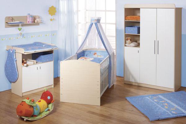 Kinderzimmerset 'Lena Ahorn / Weiß'