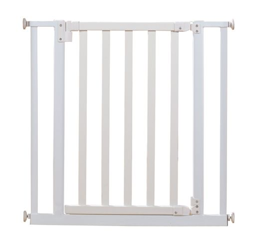 Türschutzgitter 77-86cm Holz/ Metall, weiß