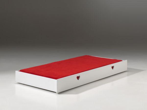 Bettschublade 90x190 cm Amori, Weiß