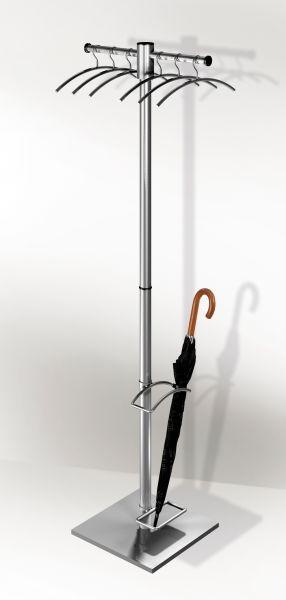 Garderobenständer G 12-E 6906 (Optional mit Schirmständer)