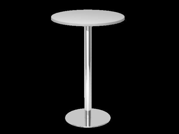 Stehtisch STH08 rund, 80cm, Grau / Chrom