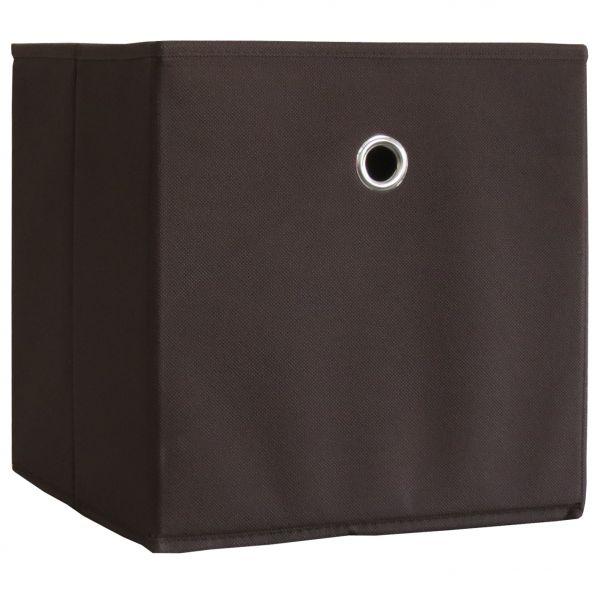 "10er-Set Faltbox Klappbox ""Boxas"" - ohne Deckel - Dunkelbraun"