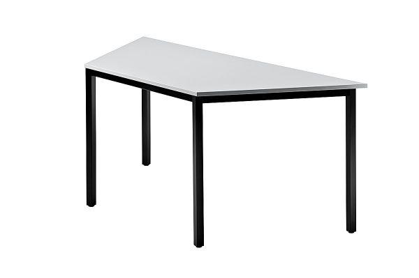 Besprechungstisch DQTR Trapez 160x69cm Grau 4-Fuß Gestellfarbe: Schwarz