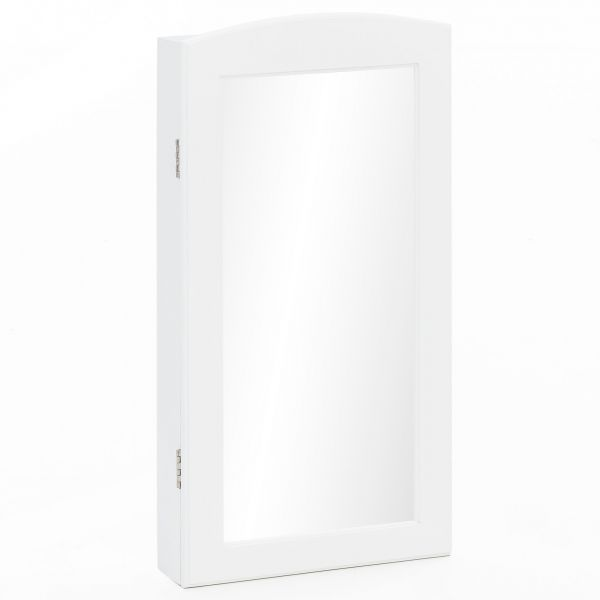Wandspiegel WL5.723 Schmuckspiegel Weiß 31 x 61 x 9 cm Schmuckschrank