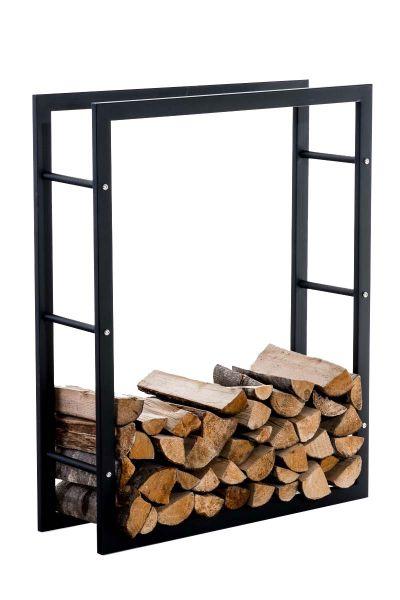 Kaminholzständer Keri V3 25x100x150, schwarz