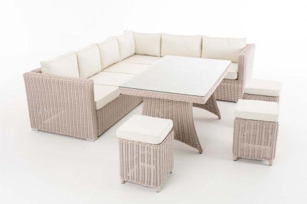 Sitzgruppe Siena 5mm Cremeweiß, perlweiß
