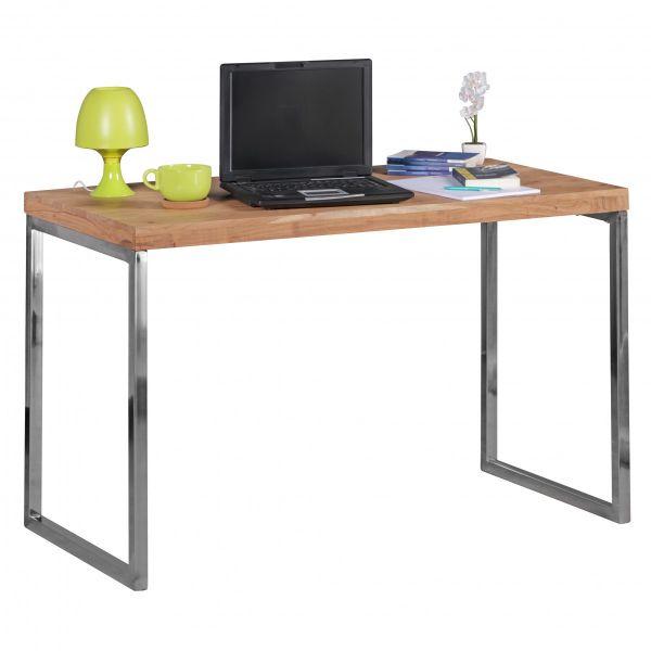 Schreibtisch, Computertisch, Massivholz, Akazie, 120 x 60 cm