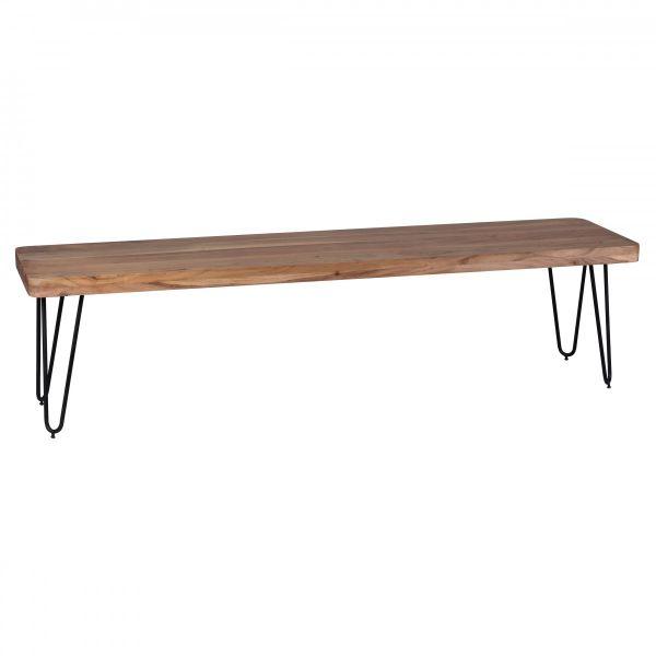 Esszimmer Sitzbank, Landhaus Stil, Massiv-Holz, Akazie 180 x 45 x 40 cm