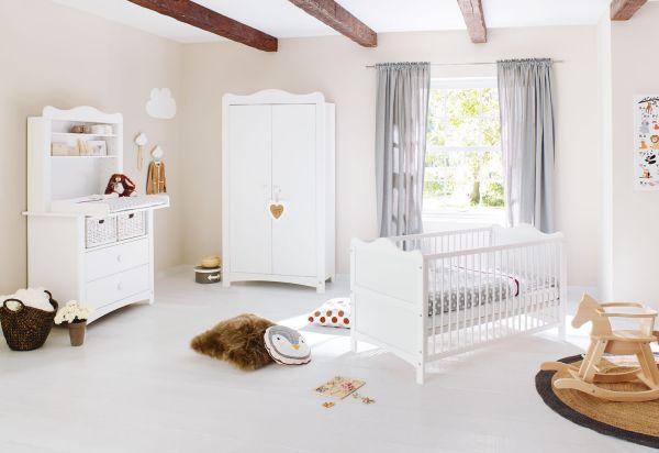 Kinderzimmer 'Florentina' breit, inkl. Regalaufsatz, weiß