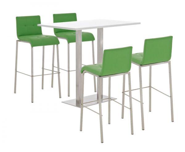 Bar Set Velosa, weiss glanz , grün