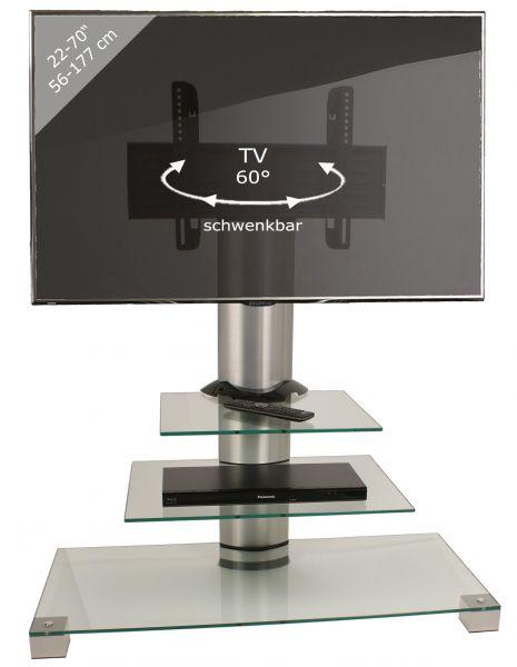 TV-Standfuß Amalo Maxi - Silber | Wohnzimmer > TV-HiFi-Möbel > Ständer & Standfüße | Silber | VCM-Möbel
