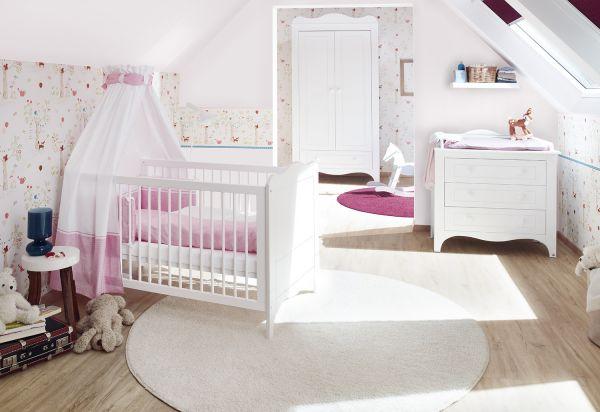 Kinderzimmer 'Fleur' breit, weiß
