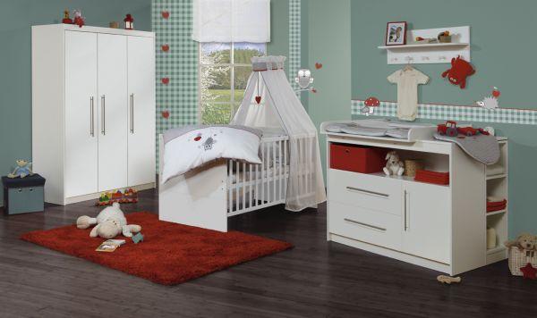 Kinderzimmerset 'Maren' 3-türig weiß