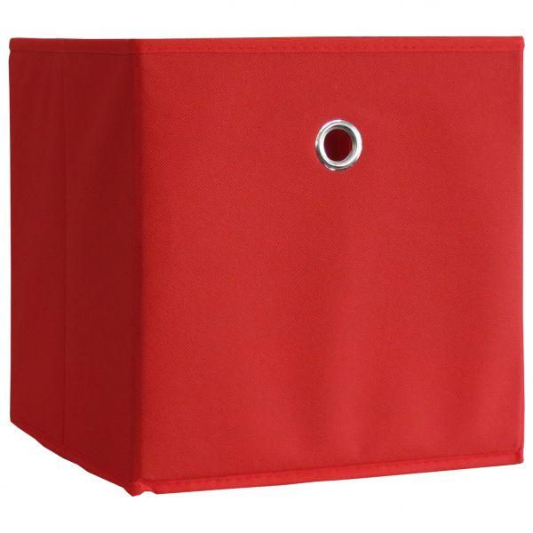 10er-Set Faltbox Klappbox Boxas - ohne Deckel - Rot | Dekoration > Aufbewahrung und Ordnung > Kästchen | Rot | VCM-Möbel