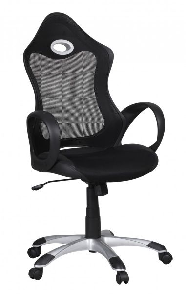 SALSA Bürostuhl, Schreibtischstuhl, Chefsessel, Schwarz Grau
