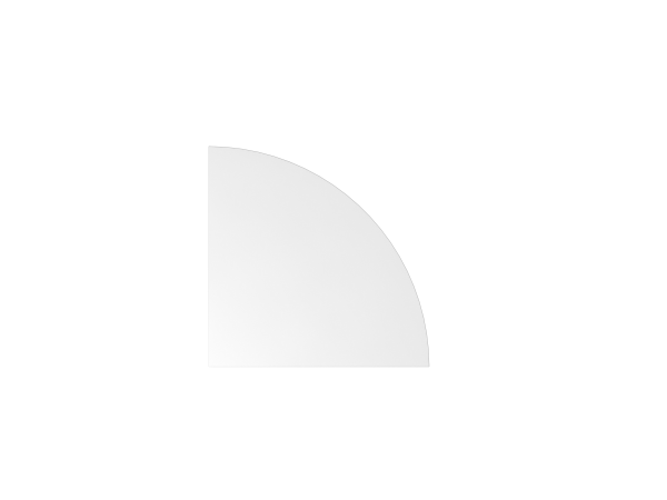Verkettungswinkel Viertelkreis LE91 80x80cm Weiß