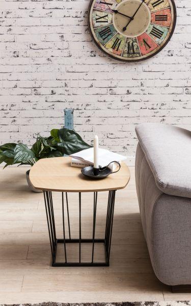 Beistelltisch SKANDI Retro Design MDF-Holz Eiche 50 x 45 x 50 cm