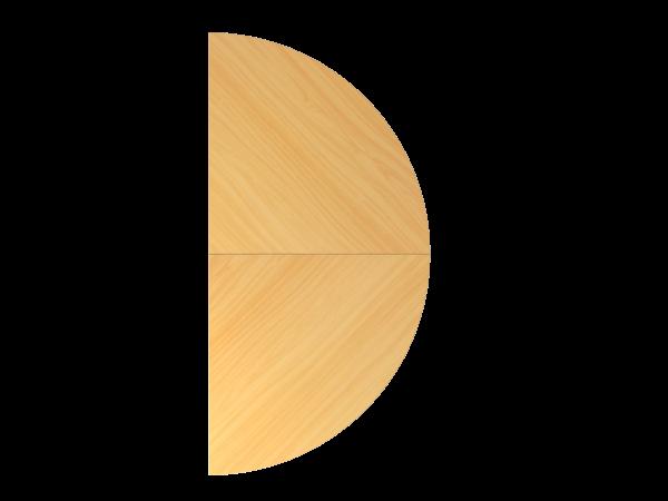 Anbautisch 2x Viertelkreis mit Stützfest BA160 Buche Gestellfarbe: Silber
