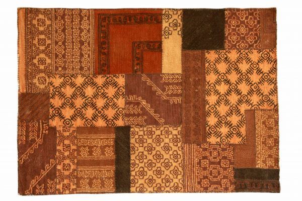 Teppich 200x300 cm, Wolle, braun