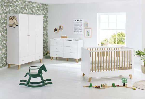 Kinderzimmer 'Pan' extrabreit groß, weiß / klar