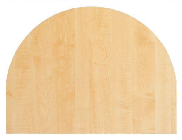 Tischplatte 60x80cm, Systembohrung für Stützfuß, Ahorn