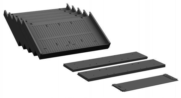Container-Einrichtungs-Set für Metall-Schubfächer, Schwarz