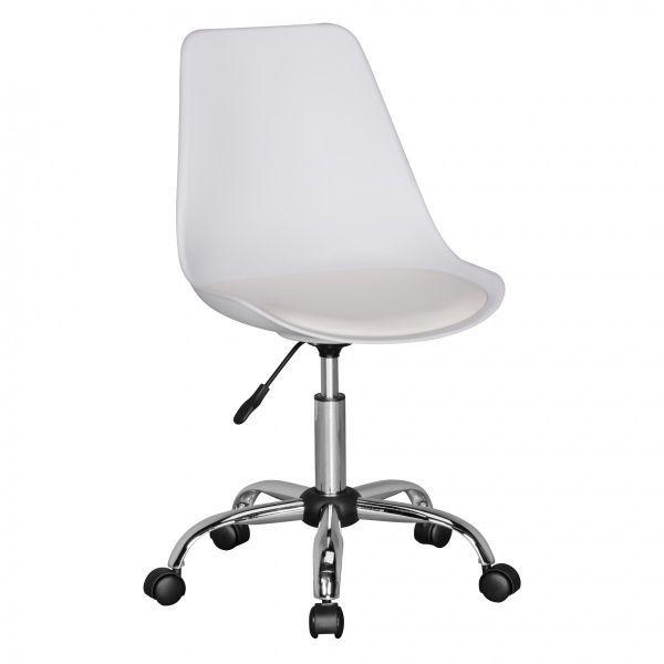 KORSIKA Drehstuhl Schreibtischstuhl, Kunstleder Weiß