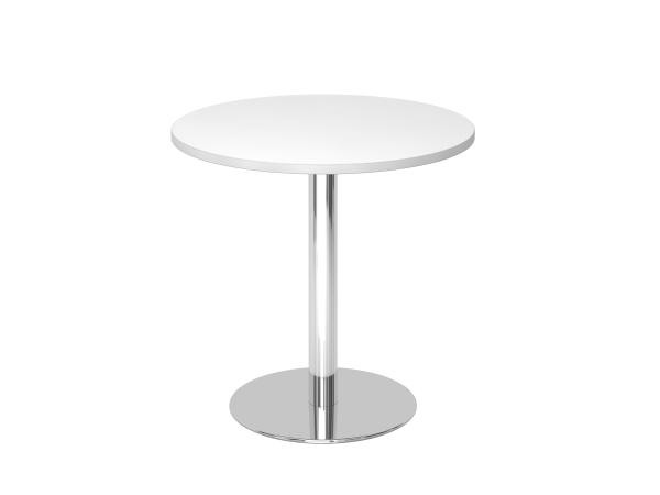 Besprechungstisch STF08 80cm Ø rund Weiß Gestellfarbe: Chrom