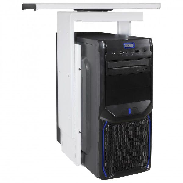 PC-Halter 360° drehbar Universal Computerhalterung 46 - 68 cm weiß