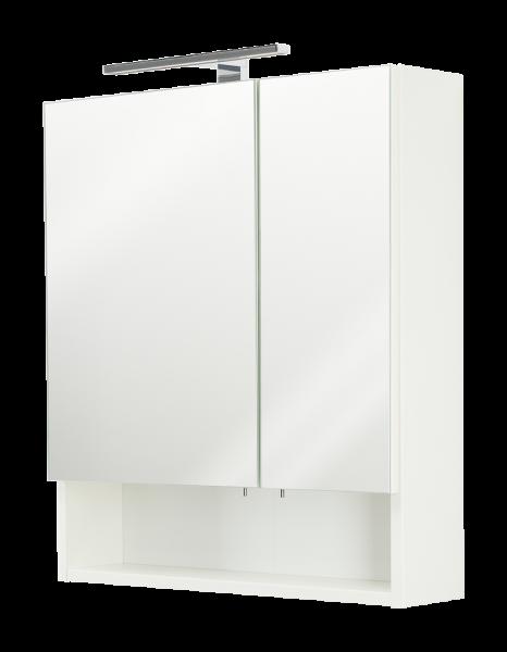 Spiegelschrank, weiss, multi-use, 2 Türen, 1 offenes Fach