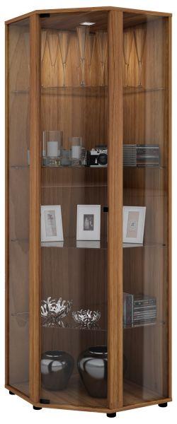 Eckvitrine Venedig - Kern-Nussbaum | Wohnzimmer > Vitrinen > Eckvitrinen | VCM-Möbel