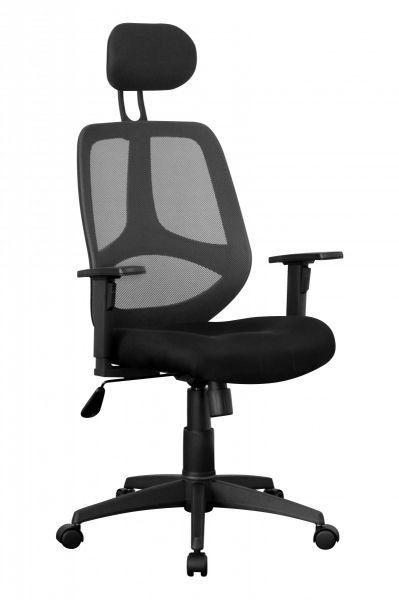 FLORENZ Bürostuhl, Schreibtischstuhl, Chefsessel, Schwarz