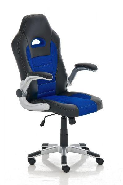 Bürostuhl John, schwarz, blau