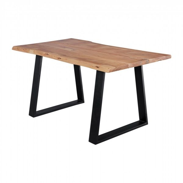 Baumstamm Küchentisch, Esstisch, Massivholz Akazie, 140x80cm