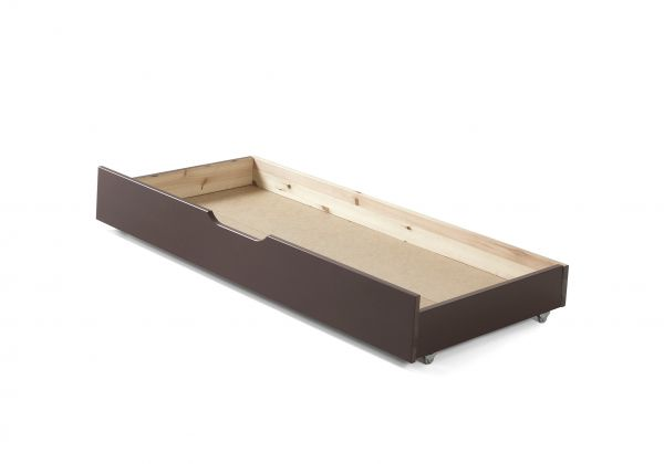 Schublade zum Kinderbett Jumper zum unterschieben, grau lackiert